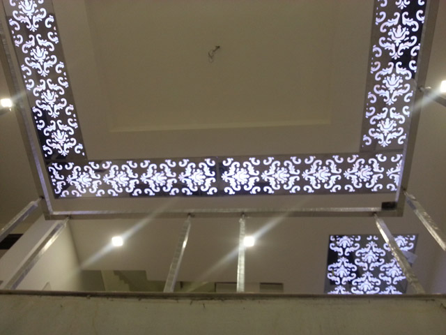 how to cut flater ceiling